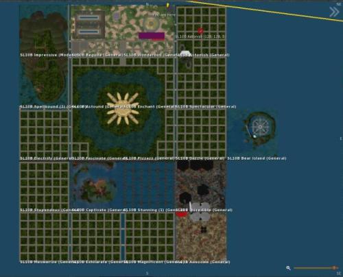 Map of the SL10B Community Celebration regions