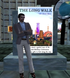 David Abbot with The Long Walk Poster